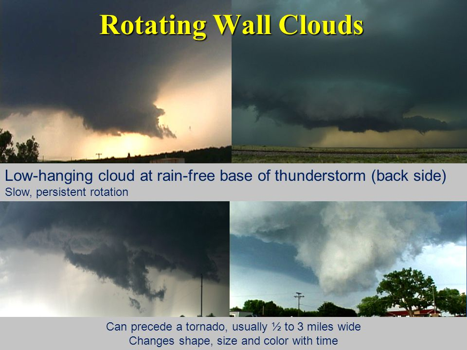 Make Sure You Are Weather-Ready Becoming a weather spotter is a start… Have a severe weather safety plan for home and workHave a severe weather safety plan for home and work Have multiple ways to receive weather information, including:Have multiple ways to receive weather information, including: NOAA Weather RadioNOAA Weather Radio Weather app for your smart phoneWeather app for your smart phone Do NOT rely on outdoor sirens alone!Do NOT rely on outdoor sirens alone!