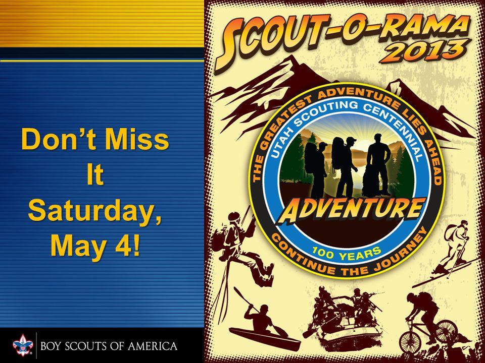 Don't Miss It Saturday, May 4!
