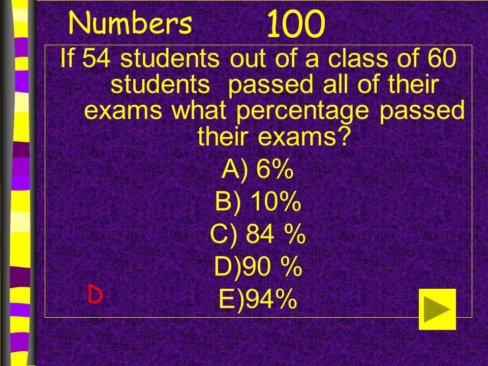 Algebra If 0.25 + 0.25 + X = 1, then x = ? A) 0.125 B) 0.25 C) 0.50 D) 25 E) 50 200 C