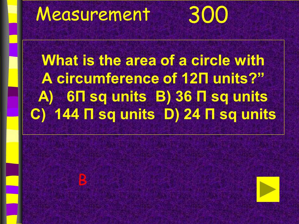Measurement What is the volume of a prism With surface area of 216 square inches.