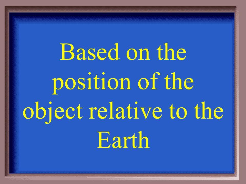Mechanical energy involves _______ ___________