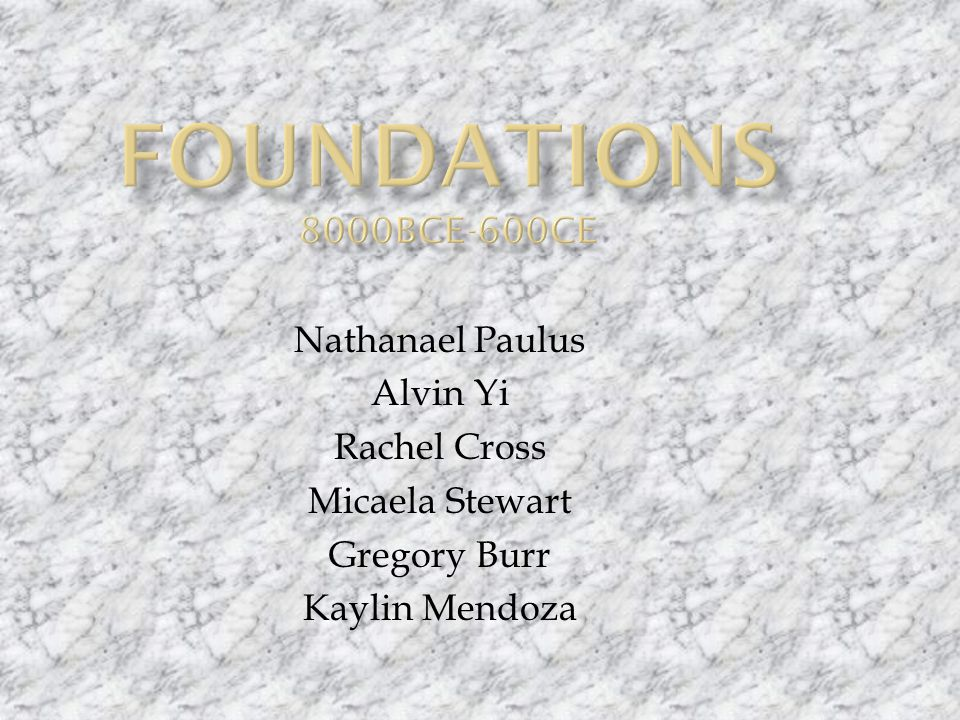 Nathanael Paulus Alvin Yi Rachel Cross Micaela Stewart Gregory Burr Kaylin Mendoza