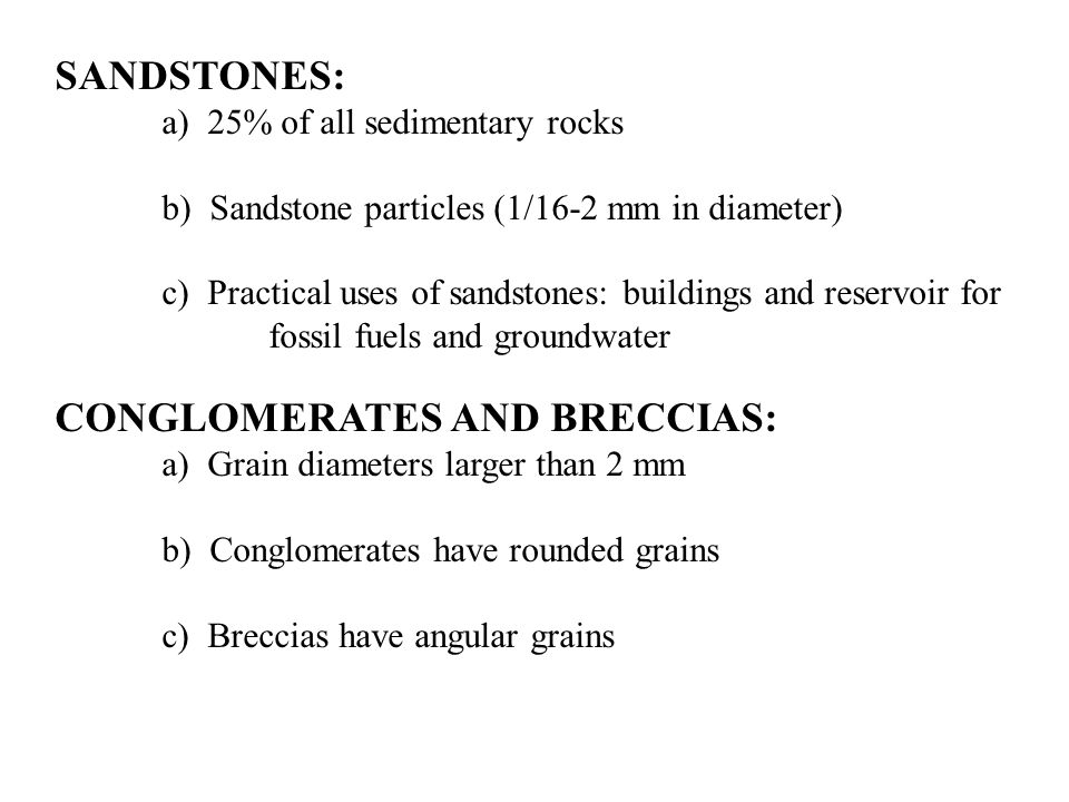 Common Geological Environments