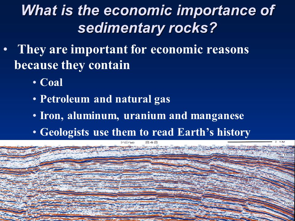 What is the economic importance of sedimentary rocks.