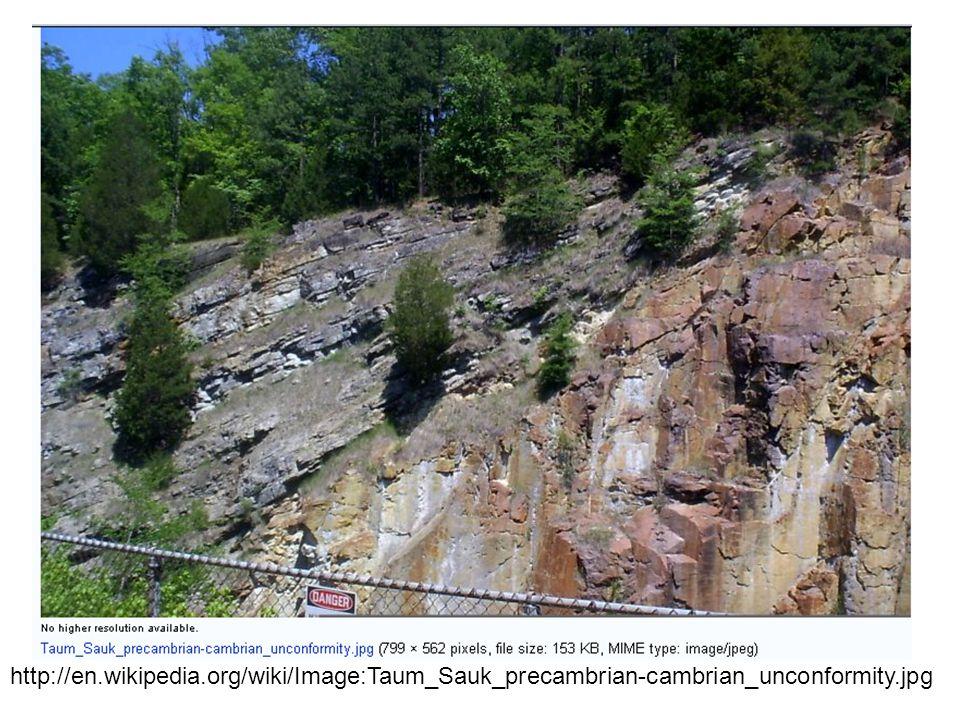 http://en.wikipedia.org/wiki/Image:Taum_Sauk_precambrian-cambrian_unconformity.jpg