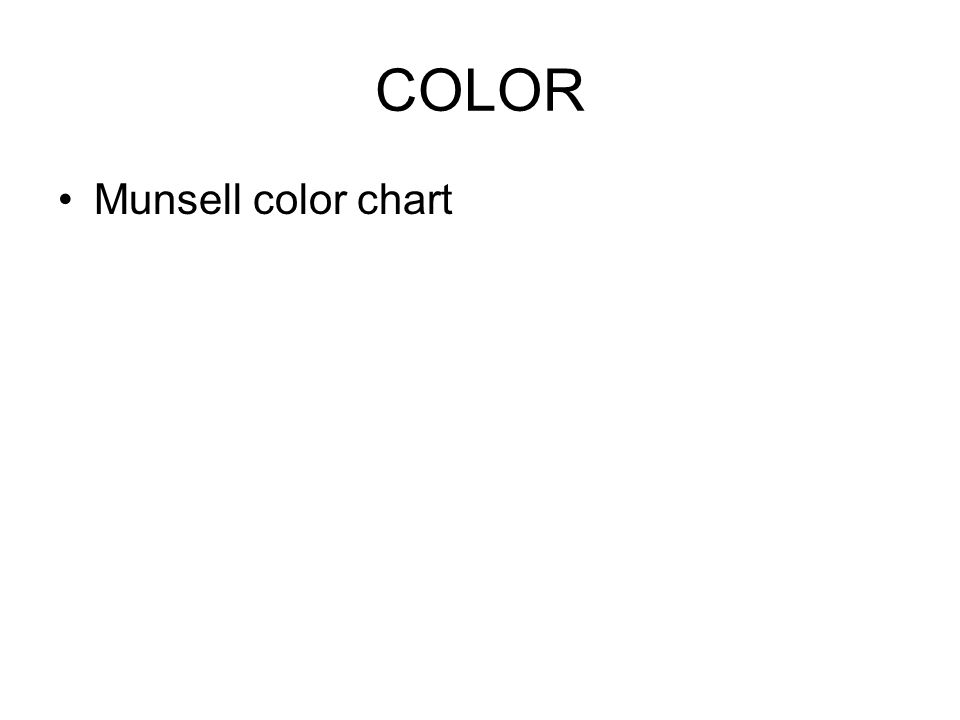 COLOR Munsell color chart