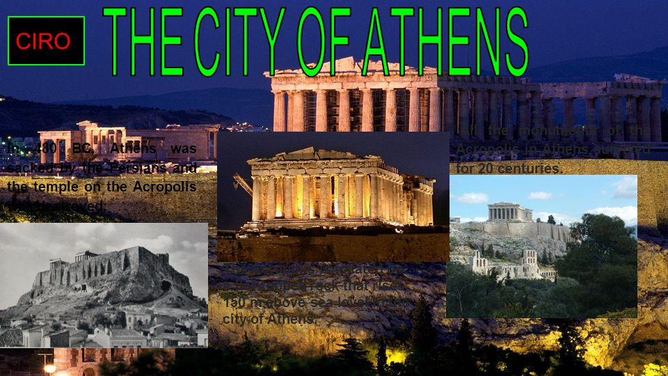 In 480 BC, Athens was sacked by the Persians and the temple on the Acropolis was destroyed.