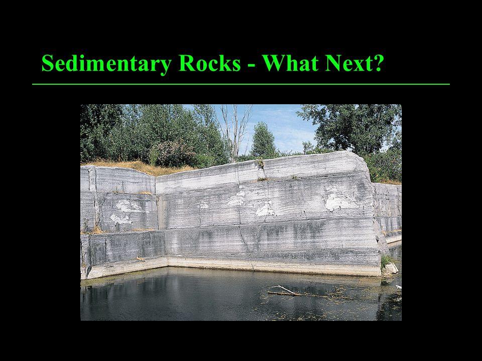 Sedimentary Rocks - What Next