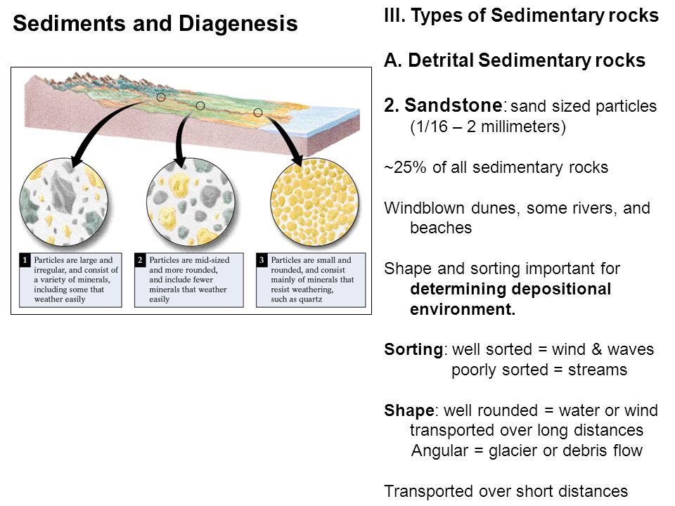 III. Types of Sedimentary rocks A. Detrital Sedimentary rocks 2.