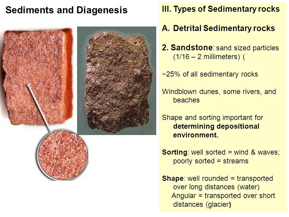 III. Types of Sedimentary rocks A.Detrital Sedimentary rocks 2.