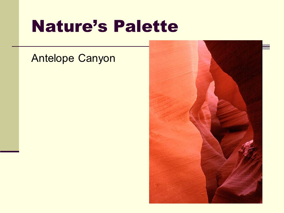 Nature's Palette Antelope Canyon
