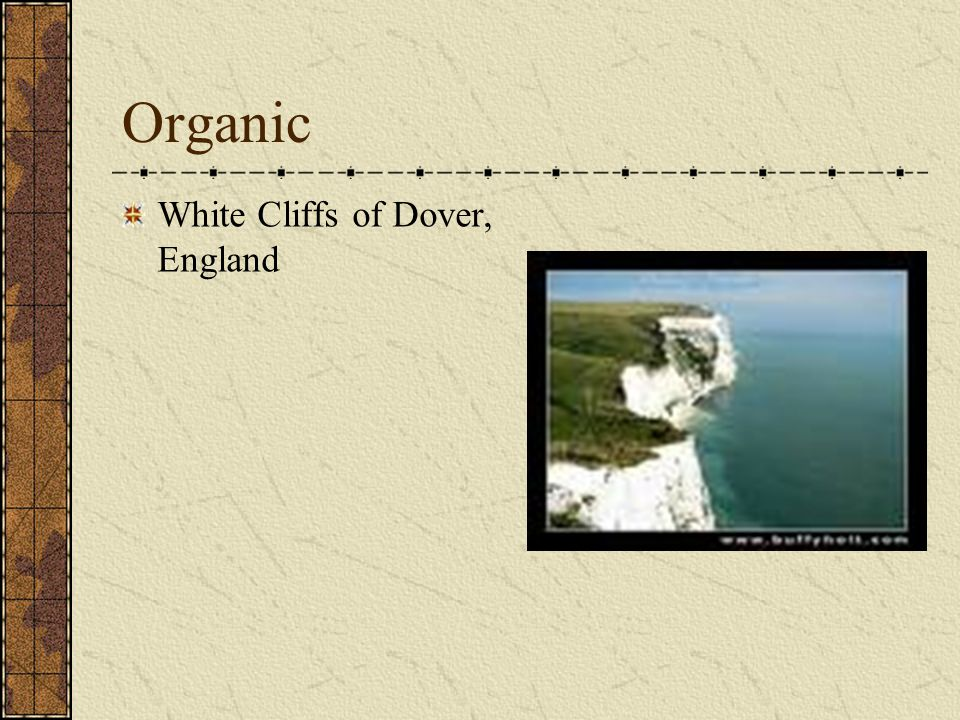 Organic White Cliffs of Dover, England