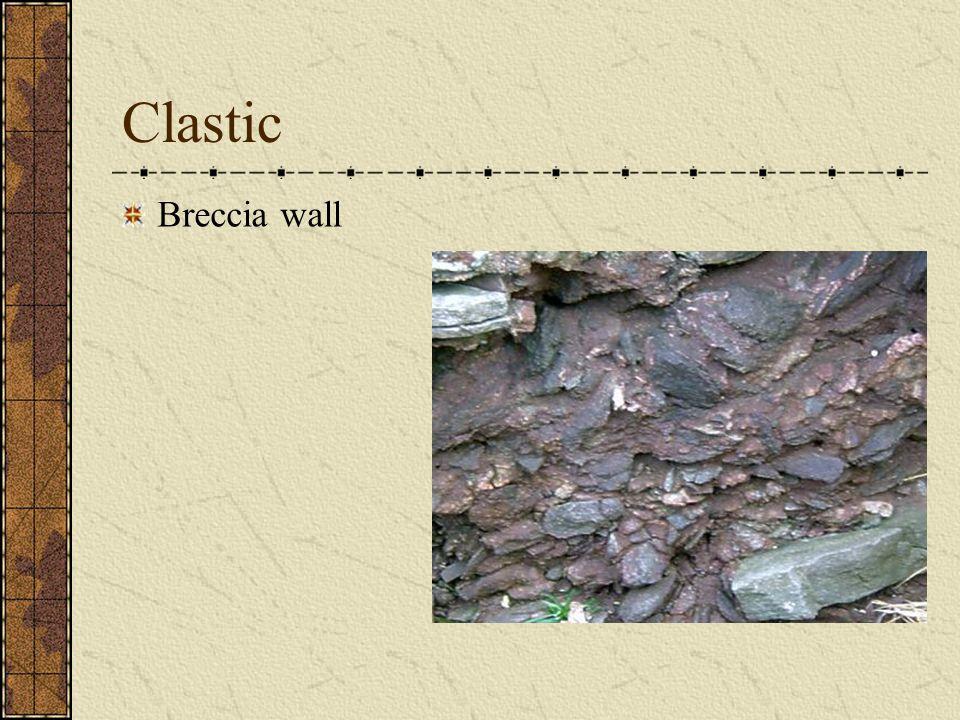 Clastic Breccia wall
