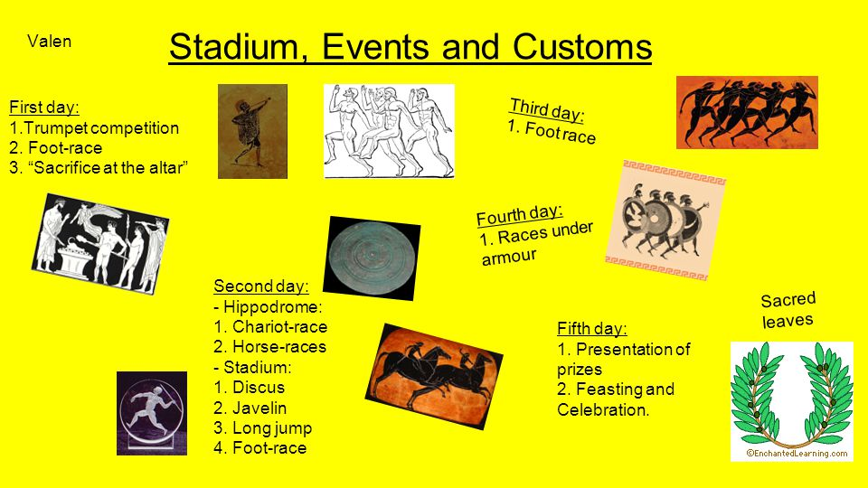 Stadium, Events and Customs First day: 1.Trumpet competition 2.