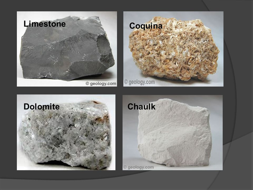 CLASSES of Sedimentary Rocks  Clastic (also called detrital): (e.g., shale, siltstone, sandstone, conglomerate, breccia) Formed from mechanical weathering Classified based on particle size (and particle shape)  Chemical: Evaporites (e.g., rock salt, gypsum, sylvite) Precipitates (e.g., compact limestone, travertine, dolomite, chert) Chemical weathering – dissolving of chemicals  Biochemical (e.g., coquina, chert, coal, coral limestone, chaulk) Accumulation of living material – i.e.