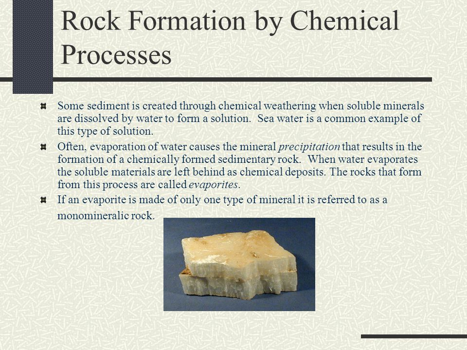 Rock Formation by Biologic Processes The terms biologic and organic refer to living things.
