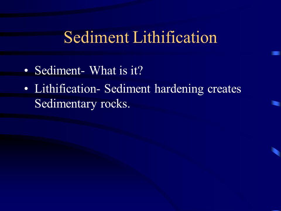 Sediment Lithification Sediment- What is it.