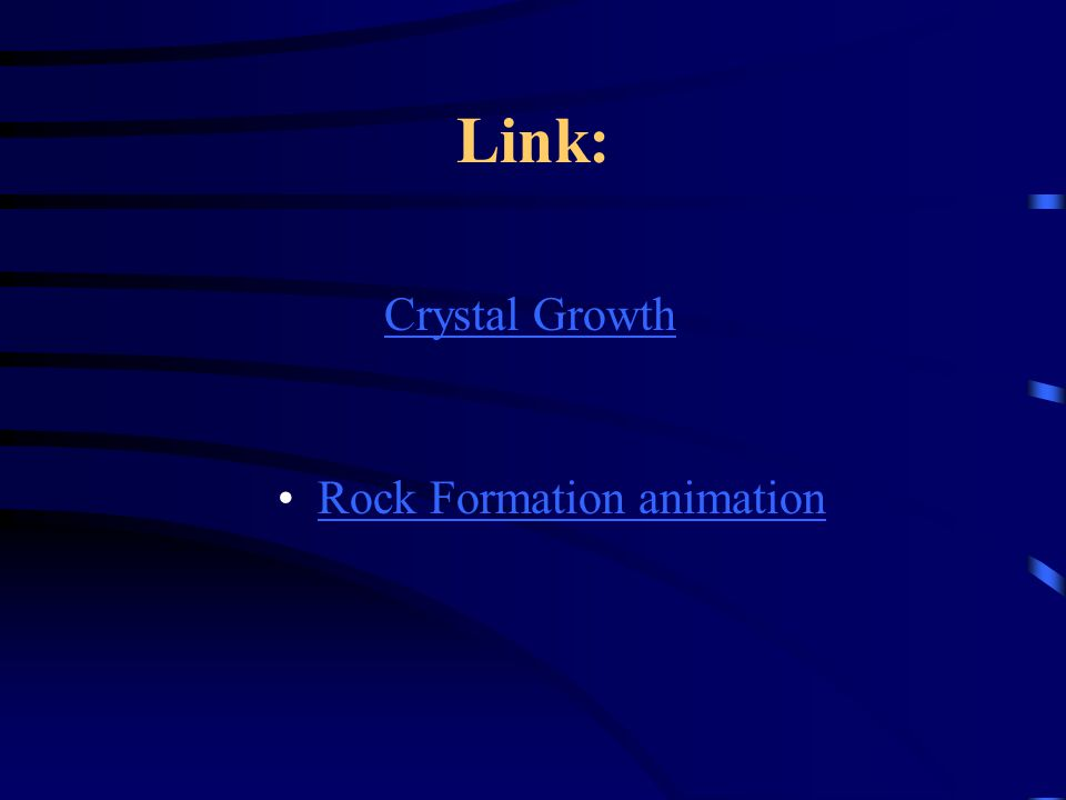 Link: Rock Formation animation Crystal Growth