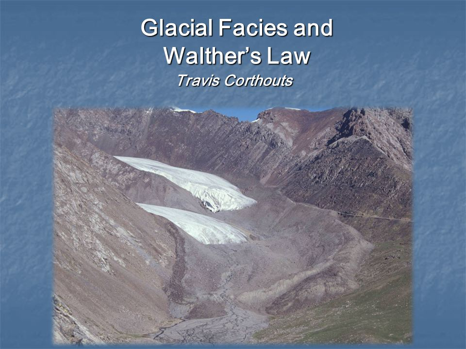 Glacial Sequences (Boulton) Spatial and temporal distribution of erosion AND deposition Spatial and temporal distribution of erosion AND deposition Marginal till sequences Marginal till sequences