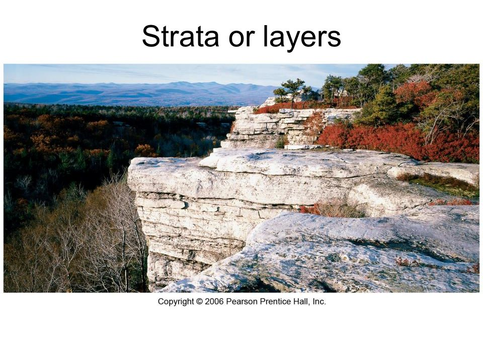 Strata or layers