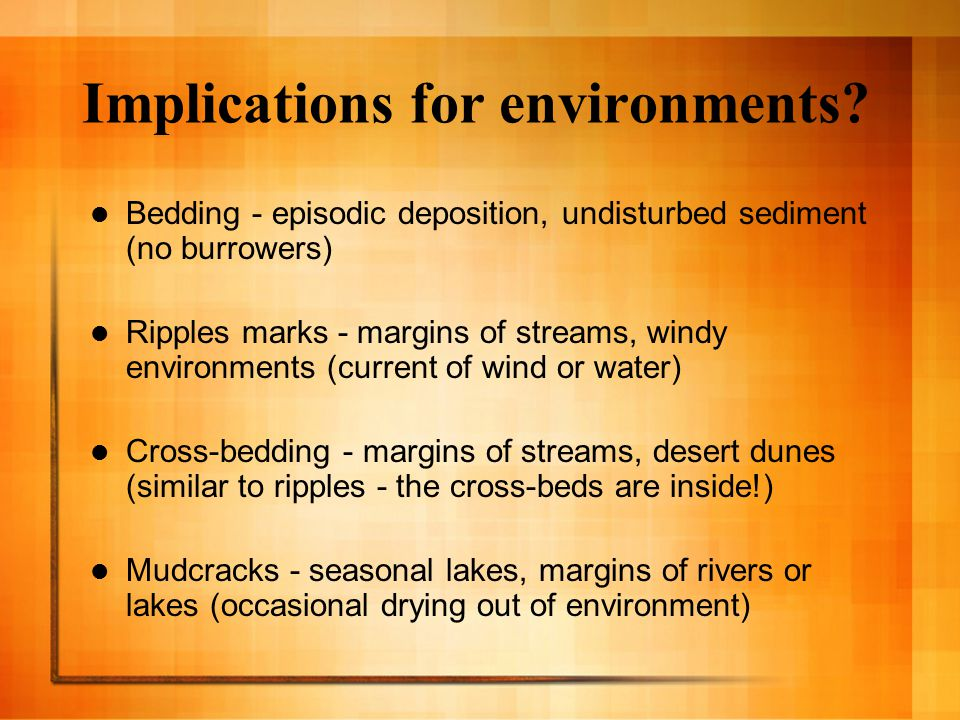Implications for environments.