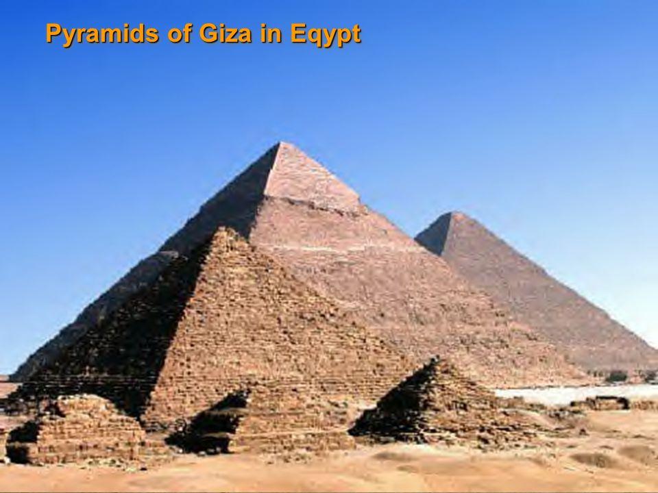 Pyramids of Giza in Eqypt