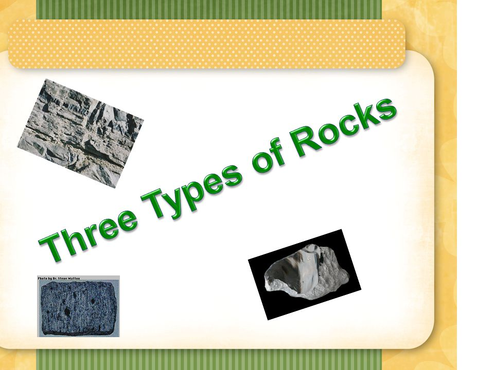 Label a diagram that depicts the three different rock types.