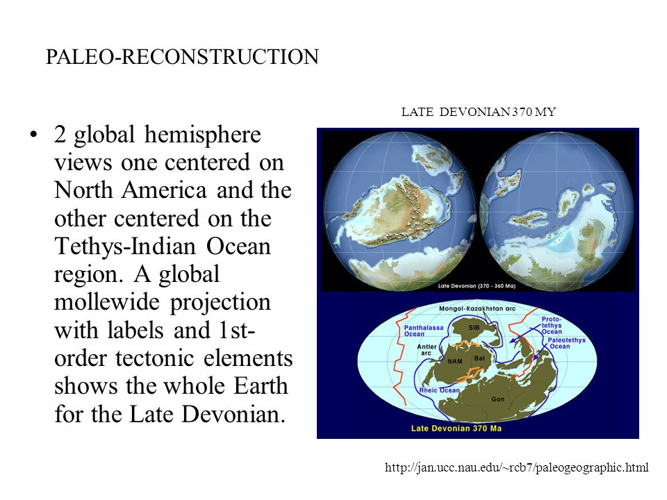 2 global hemisphere views one centered on North America and the other centered on the Tethys-Indian Ocean region.