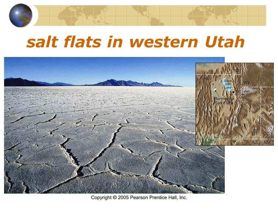salt flats in western Utah