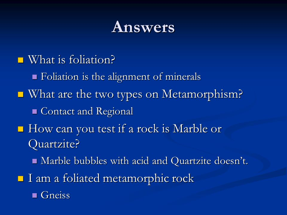 Answers What is foliation. What is foliation.