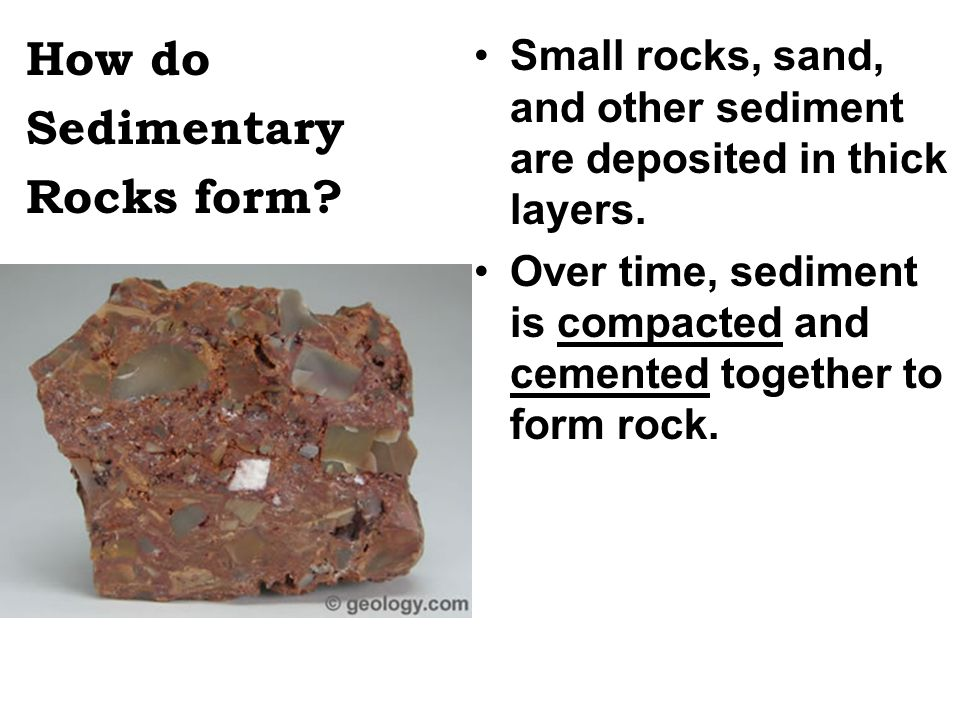 Where does the sediment come from.