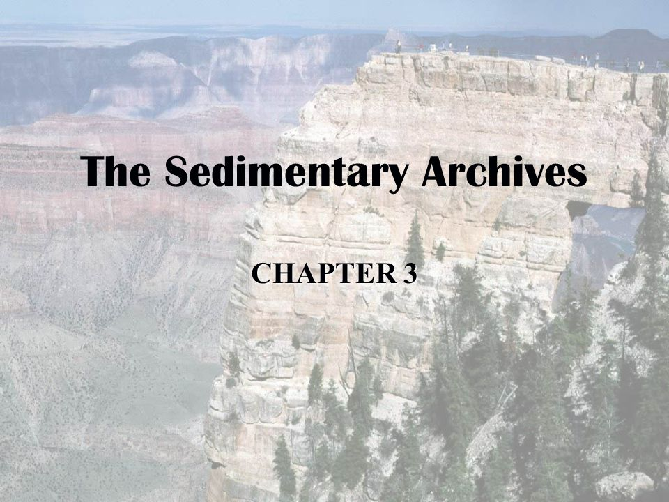 The Sedimentary Archives CHAPTER 3