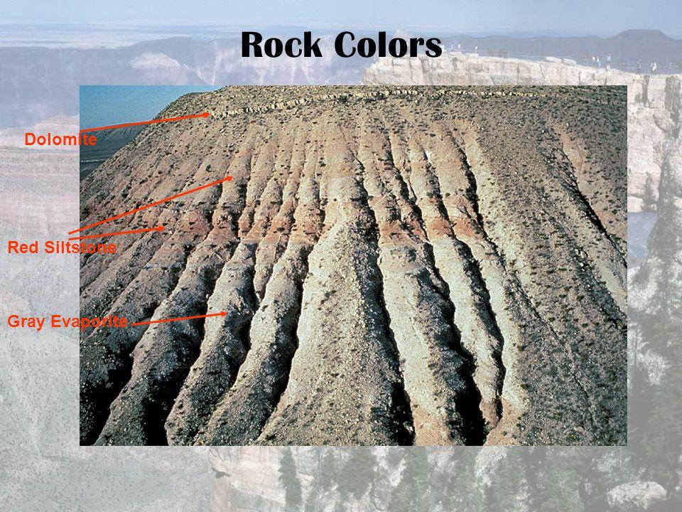Rock Colors Dolomite Red Siltstone Gray Evaporite