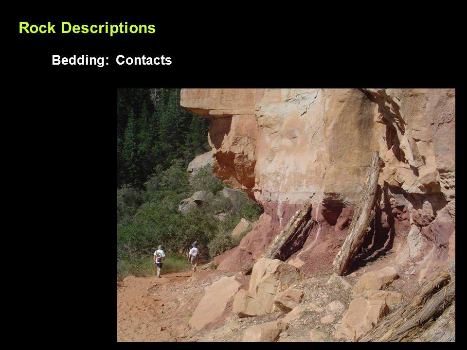 Rock Descriptions Bedding: Contacts