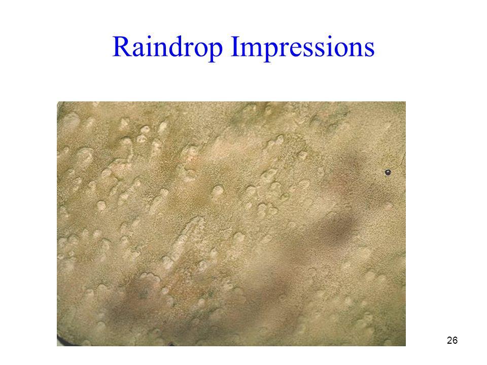 26 Raindrop Impressions