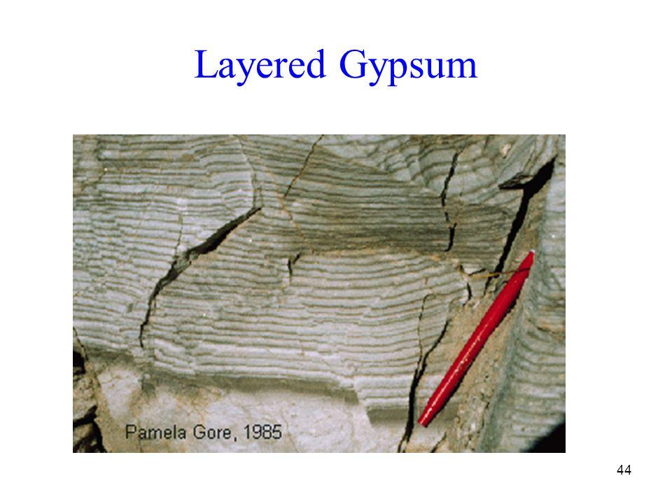 44 Layered Gypsum