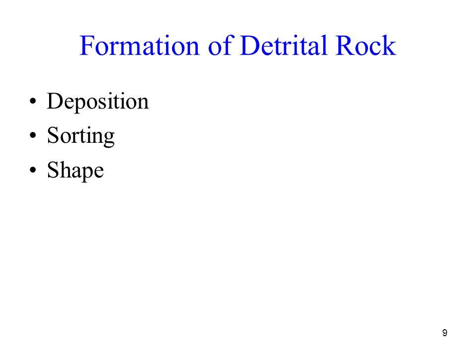 9 Formation of Detrital Rock Deposition Sorting Shape