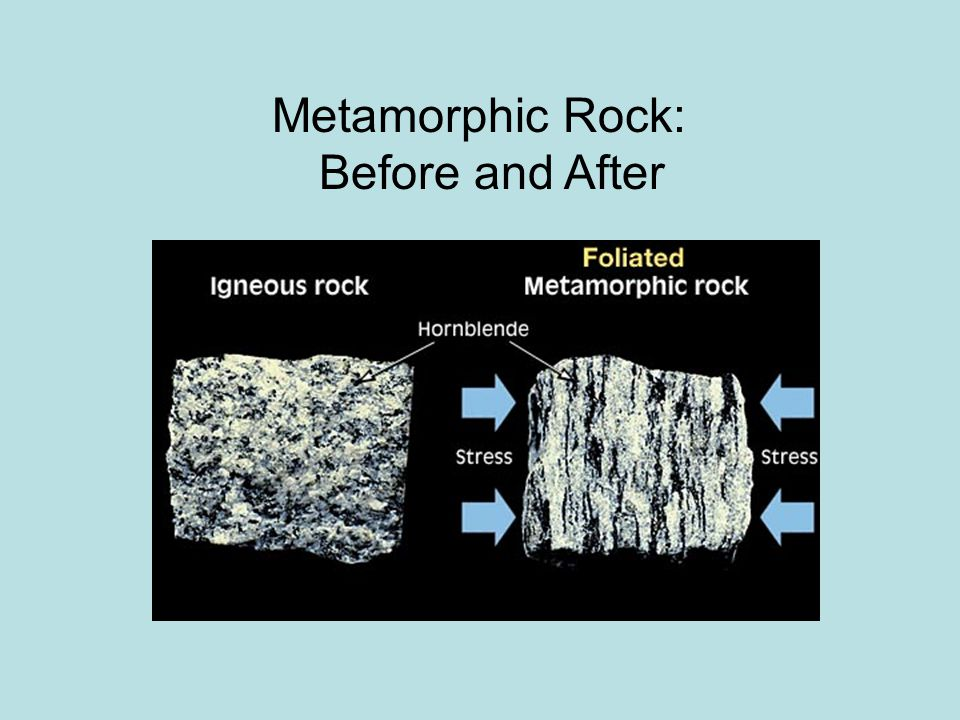 Metamorphic Rock: Before and After