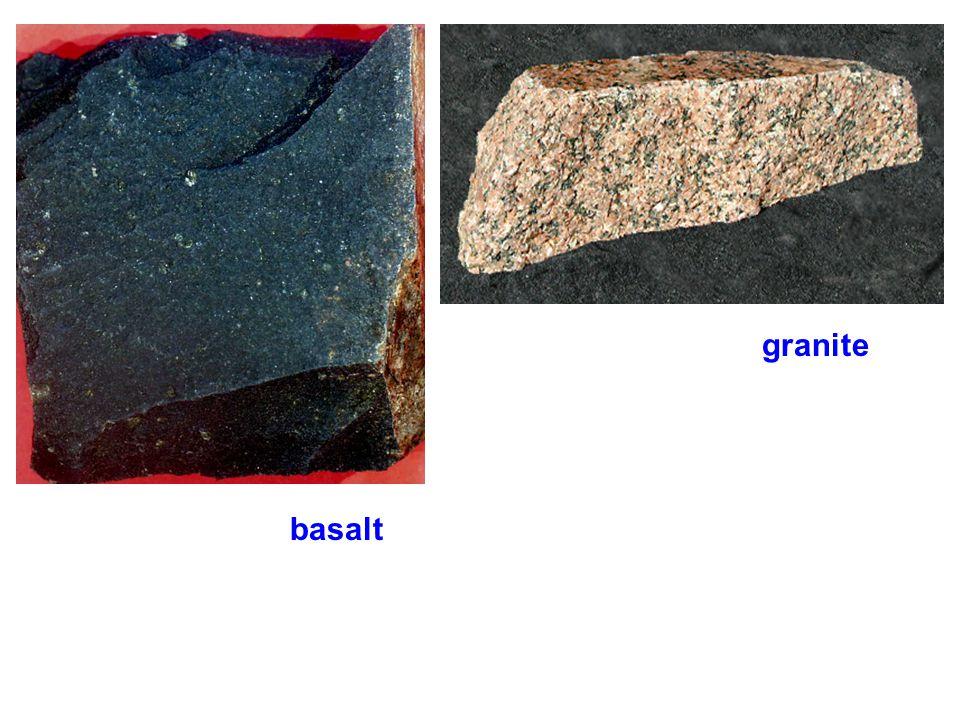 granite metamorphosed granite = metagranite = gneiss