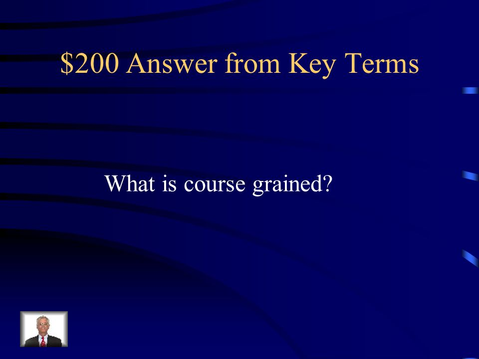 $200 Answer from Key Terms What is course grained?
