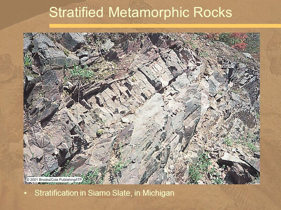 Stratification in Siamo Slate, in Michigan Stratified Metamorphic Rocks