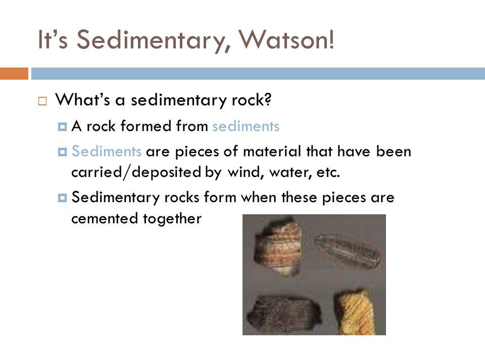 It's Sedimentary, Watson.  What's a sedimentary rock.