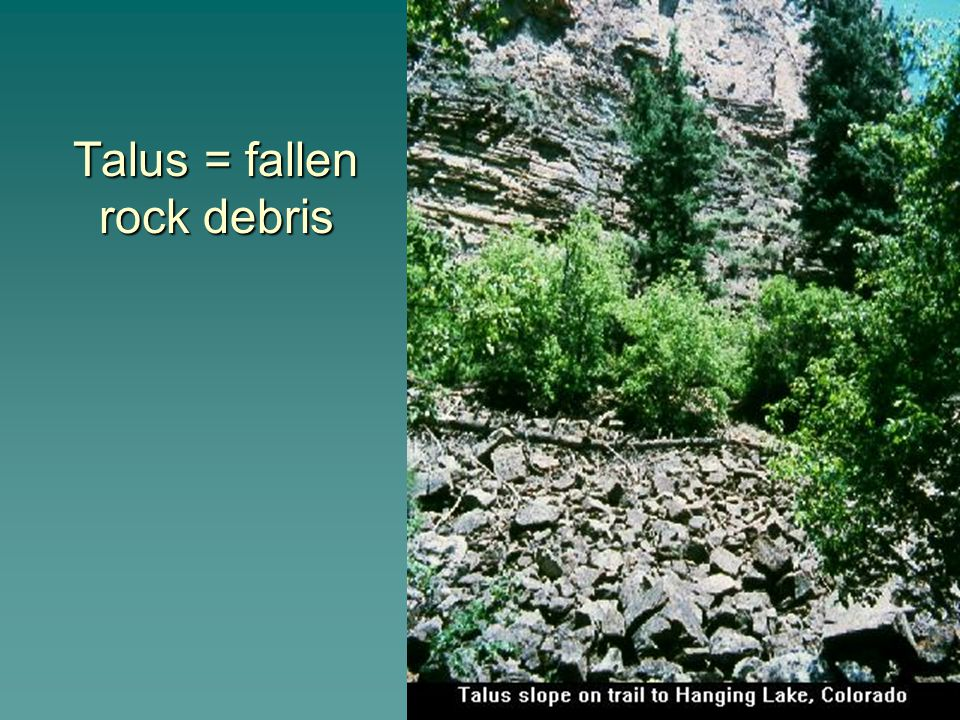 d) Salt crystal growth: salts in rock crevices grow.