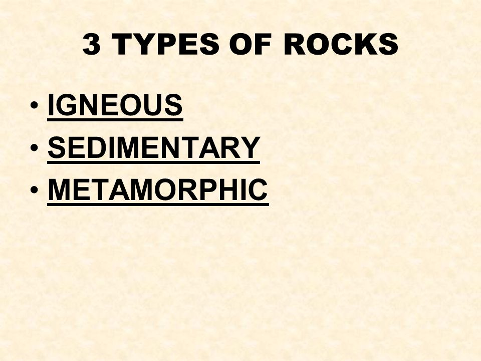 Igneous – means fire formed. IGNEOUS ROCKS: form from lava or magma.