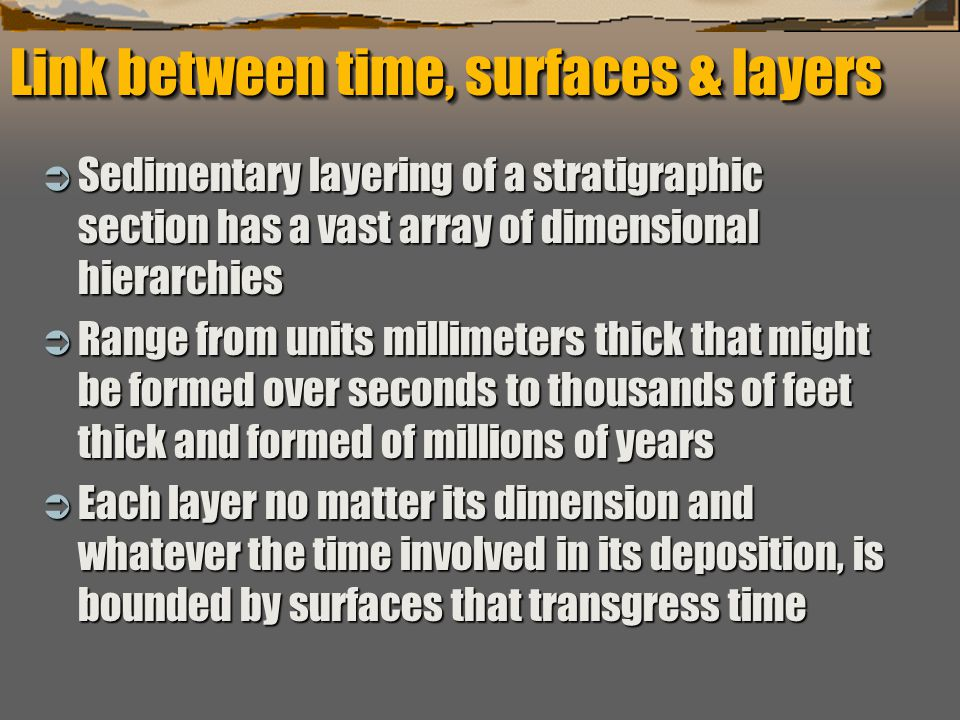 """""""Sequence Stratigraphy – Basics"""" C. G. St. C. Kendall Link between time, surfaces & layers  Sedimentary layering of a stratigraphic section has a vas"""