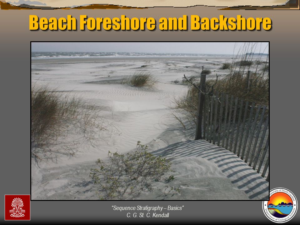 """""""Sequence Stratigraphy – Basics"""" C. G. St. C. Kendall Beach Foreshore and Backshore"""