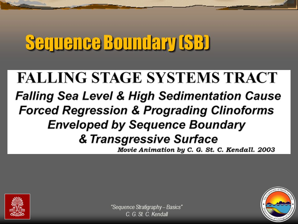 """""""Sequence Stratigraphy – Basics"""" C. G. St. C. Kendall Sequence Boundary (SB)"""