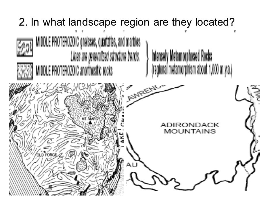 2. In what landscape region are they located?