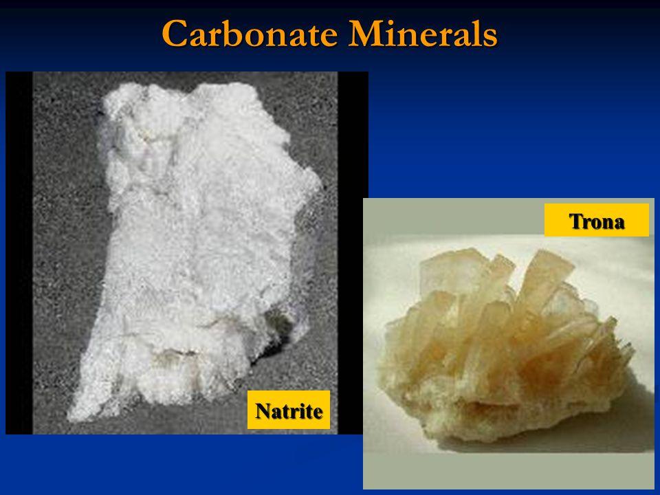 Carbonate Minerals Natrite Trona