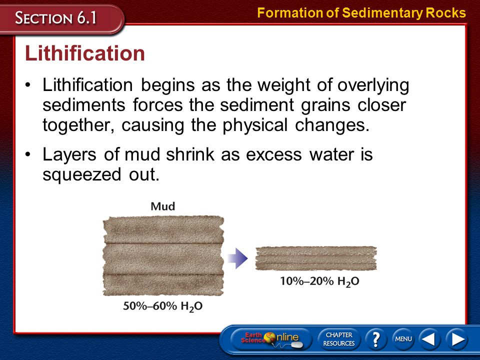 Chemical Sedimentary Rocks During chemical weathering, minerals can be dissolved and carried into lakes and oceans.